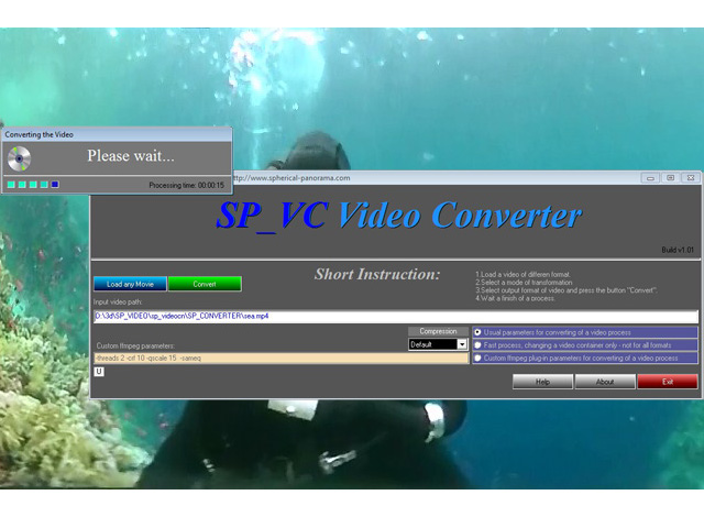 Click to view Spherical Panorama Video Converter 1.01 screenshot